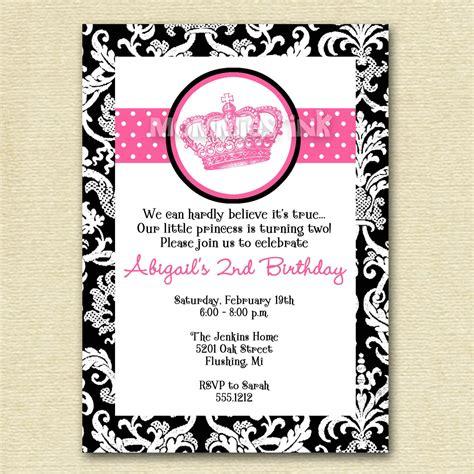 printable crown birthday invitations mod vintage crown birthday invitation printable by mommiesink