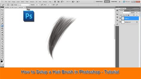 download hair brushes for photoshop cs3 how to setup a hair brush in photoshop tutorial youtube