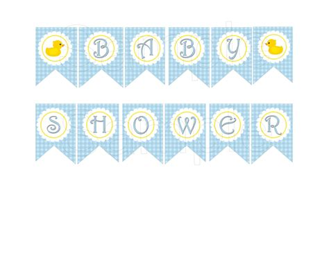 Printable Baby Shower Banners by Blue Rubber Duck Baby Shower Diy Printable Banner By Suzz377