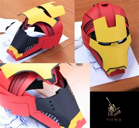 How To Make A Paper Iron Suit - iron helmet by omaiyee on deviantart