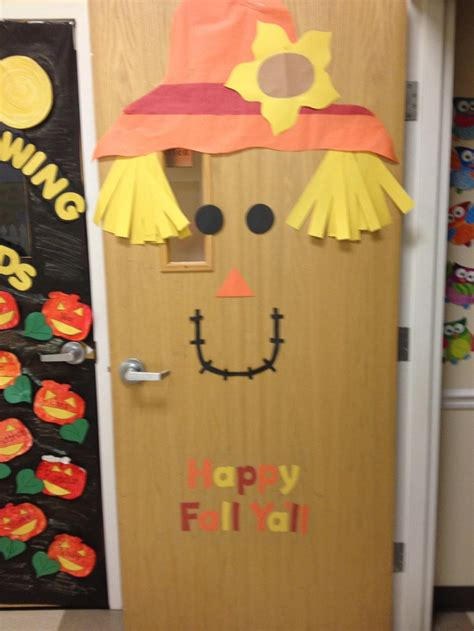fall school door decorating ideas happy fall y all door decor classroom ideas