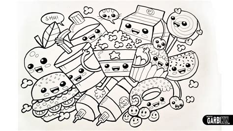 coloring pages of cartoon food cute coloring pages of kawaii coloring home