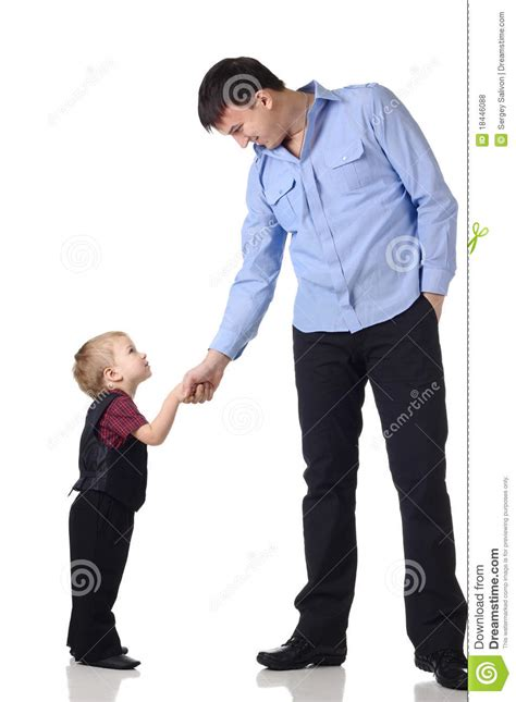 boy and handshake of a and boy stock photo image of child