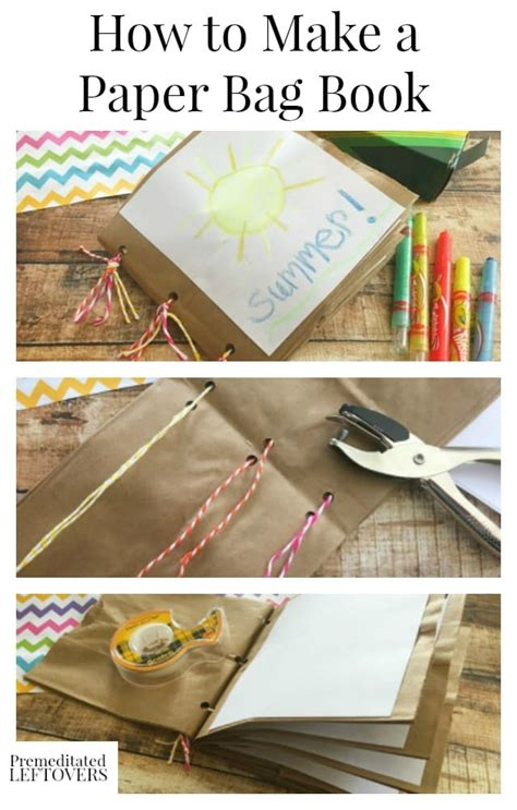 How Do You Make A Paper Bag Book Cover - how to make a paper bag book for