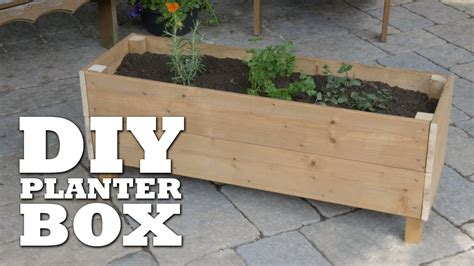 How To Make A Herb Planter by How To Build A Planter Box