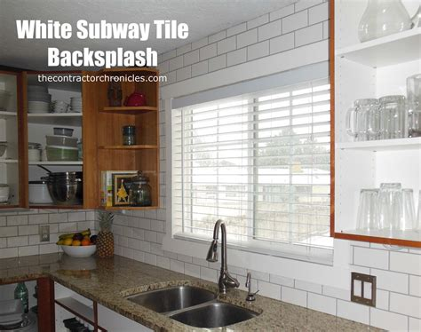 white subway tile backsplash white subway tile backsplash the contractor chronicles