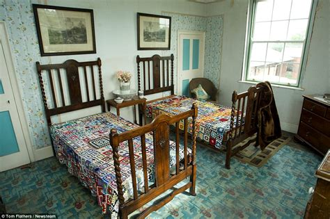 1940s bedroom ryton on dunsmore farm house has stood untouched since the