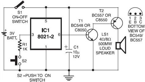 schematic diagram of electronic components electronic doorbell circuit