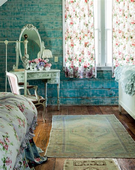 prairie shabby chic bedroom interiors by color