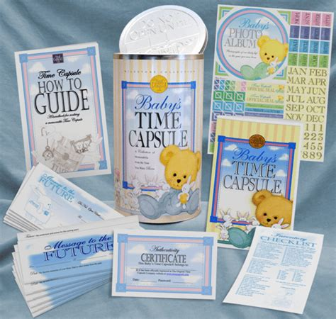 sentimental baby shower gifts time capsule company