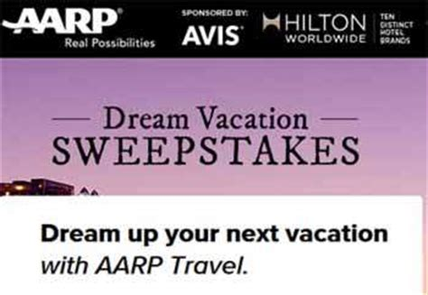 Aarp Sweepstakes - aarp org aarp dream vacation sweepstakes