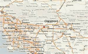 map of claremont california claremont location guide