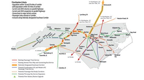 amtrak carolina map article on efforts to extend amtrak other passenger rail