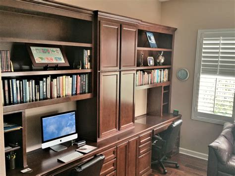 Custom Home Office Desk Custom Home Office Cabinets In Southern California