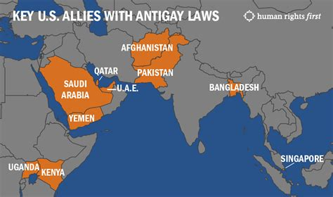 map us allies 10 key u s allies with antigay laws even worse than