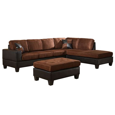 venetian worldwide dallin sectional sofa and ottoman