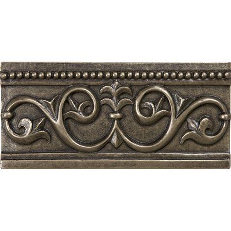 bronze metal l shade shop anatolia tile bronze metal crown tile common 3 in x