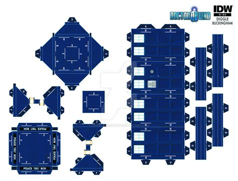 How To Make A Paper Tardis - paper tardis by charliekirchoff on deviantart