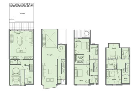 Small Townhouse Floor Plans simple glamour of north london townhouse by lli design