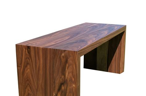 buy a custom walnut waterfall table made to order from
