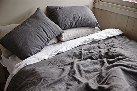 gray linen bedding linen duvet cover set light gray roselawnlutheran