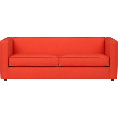 Leather Sofa Design Interesting Orange Leather Sofa Sale