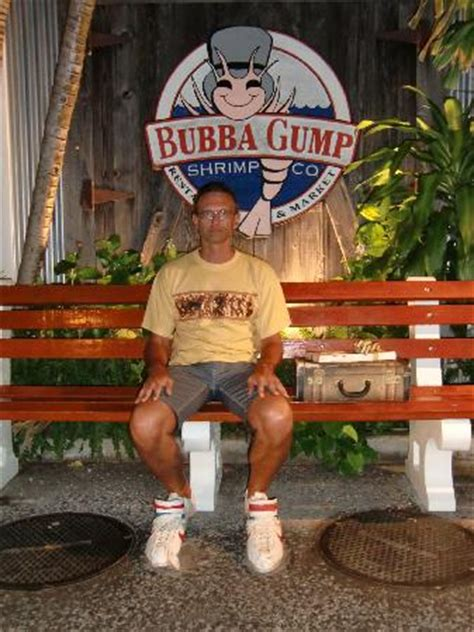 bubba gump bench me on forrest s bench picture of bubba gump shrimp co lahaina tripadvisor