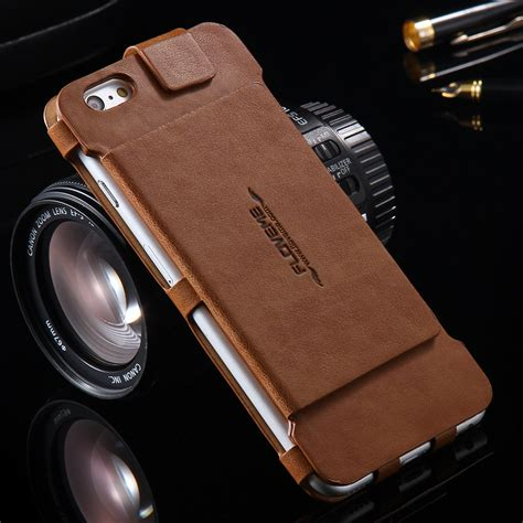 2 In 1 Metal Iphone 6 retro 2 in 1 folded wallet leather for iphone 6 6s 4 7 plus 5 5 original flip stand card