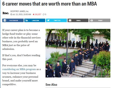 Mba Overrated by The Resume Studio