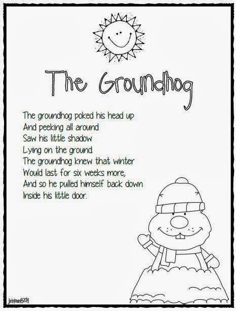 groundhog day poetry mrs brinkman s 1 27 14 newsletter groundhog s day