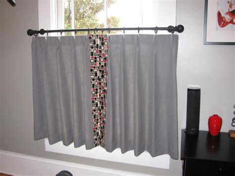grey cafe grey and geometric cafe curtains ronica s custom creations