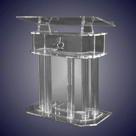 glass pulpit for church