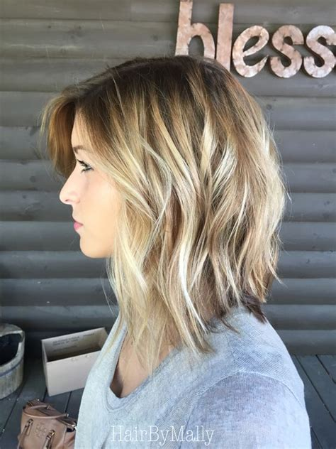 stylish sweet lob haircut ideas shoulder length hairstyles