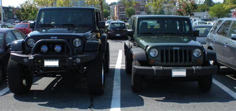 stock jeep vs lifted jeep lifted jk pics jeepforum com