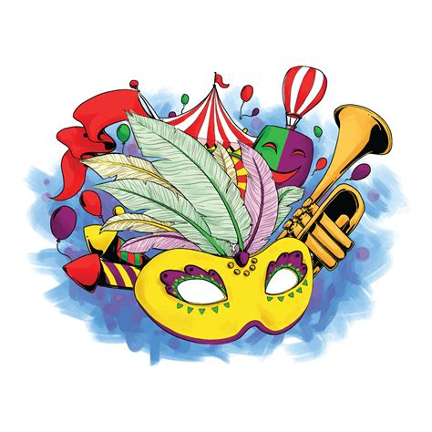 carnevale clipart carnival vector illustration free vector