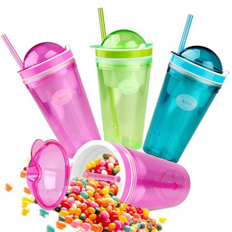Snack Cups 2015 New Fashion 500ml Children Drink Bottle With