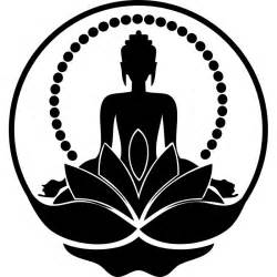 Discount Wall Stickers buddha silhouette sticker cheap wall stickers discount wall