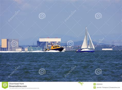 speed boat sound boats in lancaster sound royalty free stock photo image