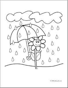 duck in the rain colouring page kindergarten rain clipart colouring page pencil and in color rain