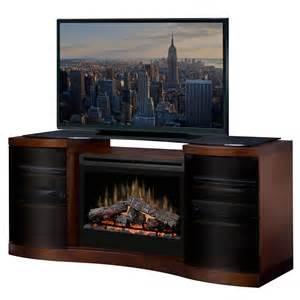dimplex acton walnut electric fireplace media console