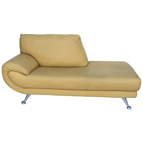 chaise lounge leather furniture nicoletti leather chaise lounge for sale at 1stdibs