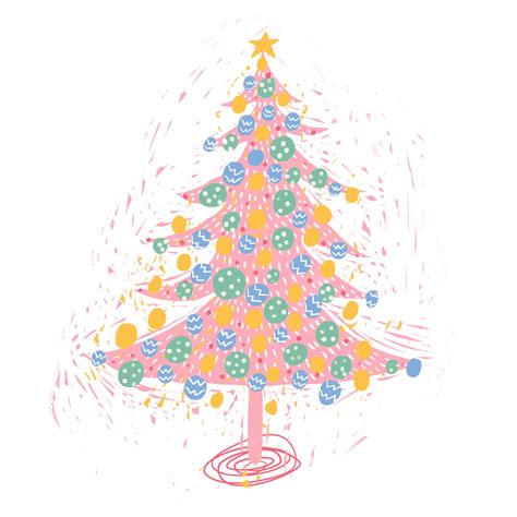 christmas tree illustration gif by amalteia find share