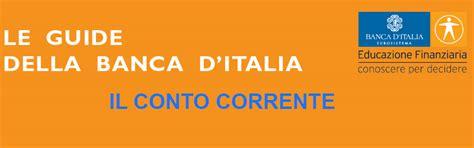 conto corrente d italia d italia le guide della d italia il conto