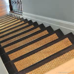 Diy Stair Risers by Diy Refinished Stairs With Sisal Stair Treads