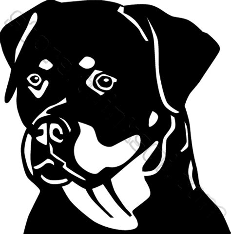 rottweiler black and rottweiler cliparts