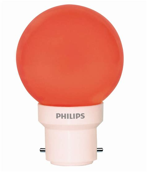 Lu Led Philips 5 Watt philips orange 0 5 watt led light bulb best price in india