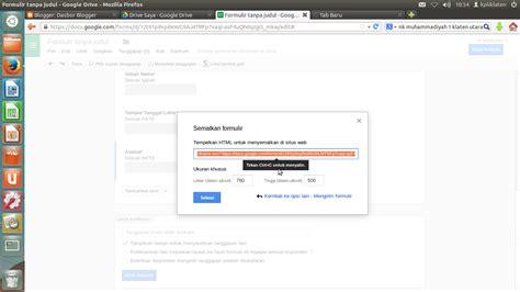 cara membuat logo google drive tutorial cara membuat formulir di google drive ari