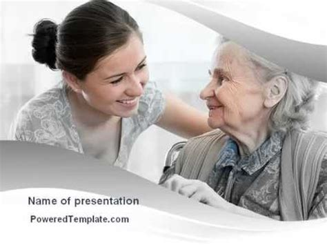 Themes For Senior Presentation | elderly people care powerpoint template by poweredtemplate