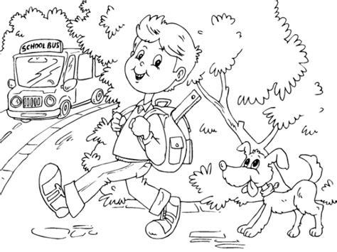 imagenes niños yendo ala escuela dibujos de ni 241 os camino a la escuela para pintar