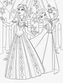 Frozen anna and elsa coloring pages to print